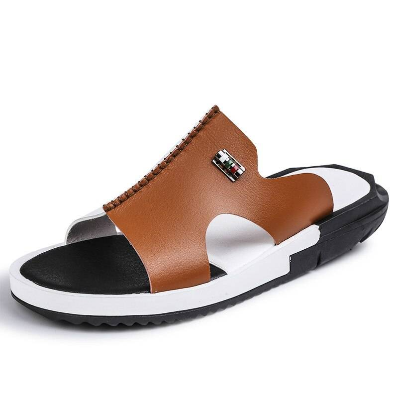 Summer Men/'s Closed toe Slippers Outdoor Casual Sandals Beach Leather Shoes Hot